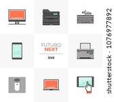 modern flat icons set of modern ... | Shutterstock .eps vector #1076977892