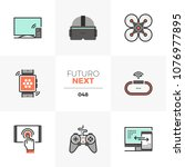 modern flat icons set of modern ...   Shutterstock .eps vector #1076977895
