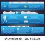 web elements vector design set | Shutterstock .eps vector #107698106