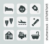 premium set of fill icons. such ... | Shutterstock .eps vector #1076987645