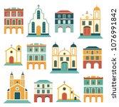 latin american festa junina... | Shutterstock .eps vector #1076991842