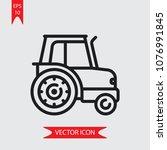 tractor vector icon   Shutterstock .eps vector #1076991845