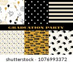 graduation pattern collection.... | Shutterstock .eps vector #1076993372