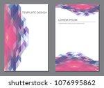 vector design for brochure... | Shutterstock .eps vector #1076995862
