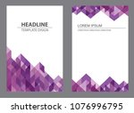 vector design for brochure... | Shutterstock .eps vector #1076996795