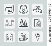 premium set of outline icons....   Shutterstock .eps vector #1076998442