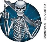 human skeleton shows middle... | Shutterstock .eps vector #1077001415