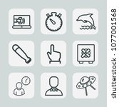 premium set of outline icons.... | Shutterstock .eps vector #1077001568