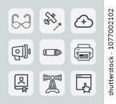 premium set of outline icons.... | Shutterstock .eps vector #1077002102