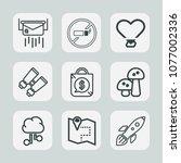 premium set of outline icons.... | Shutterstock .eps vector #1077002336