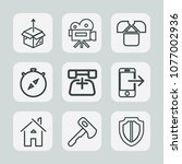 premium set of outline icons.... | Shutterstock .eps vector #1077002936