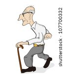 old man | Shutterstock .eps vector #107700332