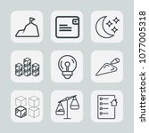 premium set of outline icons.... | Shutterstock .eps vector #1077005318