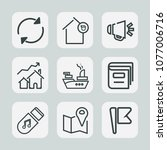 premium set of outline icons.... | Shutterstock .eps vector #1077006716
