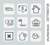 premium set of outline icons....   Shutterstock .eps vector #1077006728
