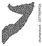 somalia map composition of... | Shutterstock .eps vector #1077009926