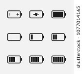 battery power  charge icon set...