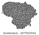 lithuania map mosaic of filled... | Shutterstock .eps vector #1077014516