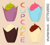 vector icon illustration logo... | Shutterstock .eps vector #1077018002
