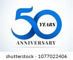 50 years anniversary... | Shutterstock .eps vector #1077022406