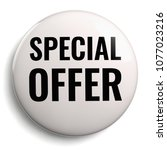 special offer discount white... | Shutterstock . vector #1077023216
