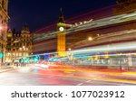 big ben in london by night | Shutterstock . vector #1077023912