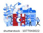 business people character... | Shutterstock .eps vector #1077043022