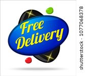 free delivery colorful offer... | Shutterstock .eps vector #1077068378
