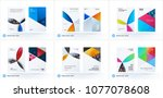 material design template with...   Shutterstock .eps vector #1077078608