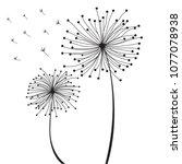 dendiline wall decal sticker...   Shutterstock .eps vector #1077078938