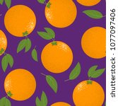 seamless pattern with stylized... | Shutterstock .eps vector #1077097406
