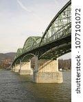 Small photo of Maria Valeria Bridge over Danube river in Sturovo. Slovakia