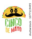 taco character cinco de mayo... | Shutterstock .eps vector #1077119495