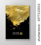 vector black and gold design... | Shutterstock .eps vector #1077122012