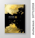 vector black and gold design... | Shutterstock .eps vector #1077122018