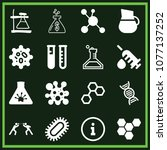 set of 16 science filled icons... | Shutterstock .eps vector #1077137252