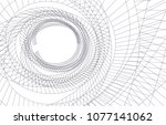 architectural drawing 3d  | Shutterstock .eps vector #1077141062