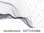 architectural drawing 3d  | Shutterstock .eps vector #1077141086