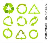 recycling symbol for... | Shutterstock .eps vector #1077141872
