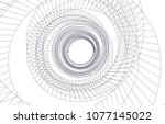 abstract architecture vector 3d ... | Shutterstock .eps vector #1077145022