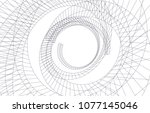 abstract architecture vector 3d ... | Shutterstock .eps vector #1077145046