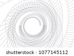 abstract architecture vector 3d ... | Shutterstock .eps vector #1077145112