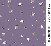 cute floral pattern in the... | Shutterstock .eps vector #1077154502