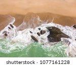 beach in balneario camboriu ... | Shutterstock . vector #1077161228