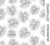 hibiscus flower print. gorgeous ... | Shutterstock .eps vector #1077165452