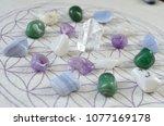 meditation grid kit. quartz... | Shutterstock . vector #1077169178