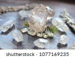 meditation grid kit. quartz... | Shutterstock . vector #1077169235