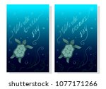 world turtle day may 23. earth... | Shutterstock .eps vector #1077171266