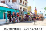 san miguel  cozumel  mexico  ... | Shutterstock . vector #1077176645