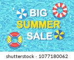 big summer sale banner ... | Shutterstock .eps vector #1077180062